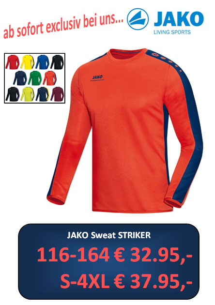 Jako Sweat Striker NEU
