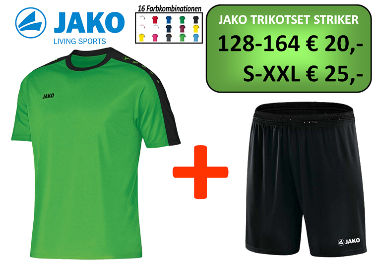 Jako Trikotset Striker Geschaeft